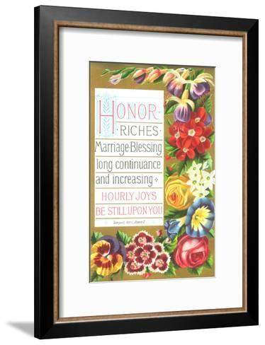 Saturated Spring Flower Blooms Border--Framed Art Print