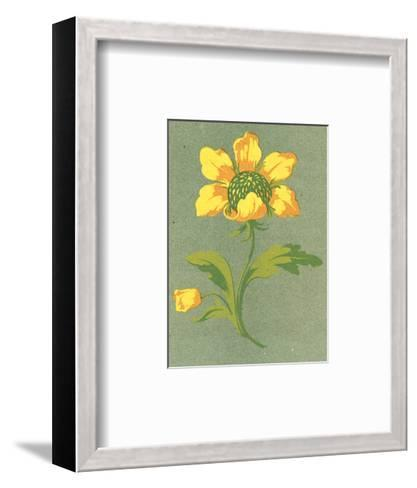 Close-Up of Stylized Yellow Flower Stem--Framed Art Print
