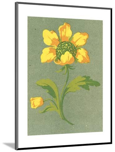 Close-Up of Stylized Yellow Flower Stem--Mounted Art Print