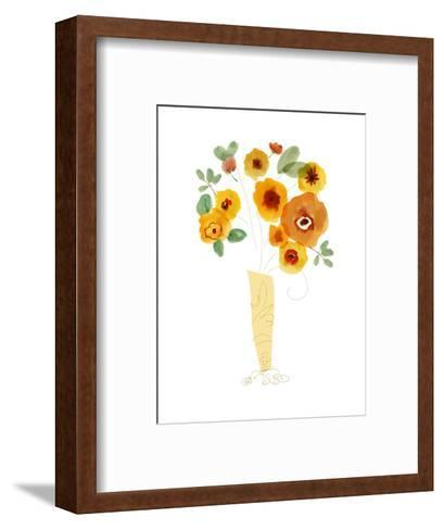 Orange Flowers in a Vase--Framed Art Print