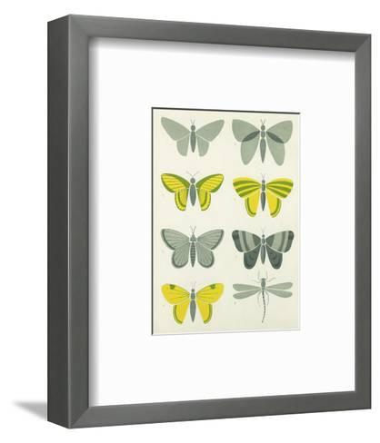 Bold Graphic Butterfly Designs--Framed Art Print