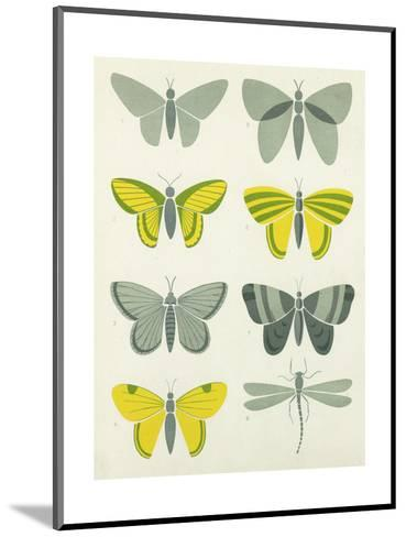 Bold Graphic Butterfly Designs--Mounted Art Print