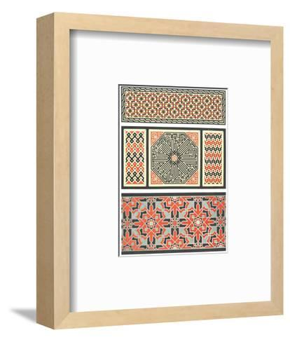 Several Bold Fretwork Patterns--Framed Art Print