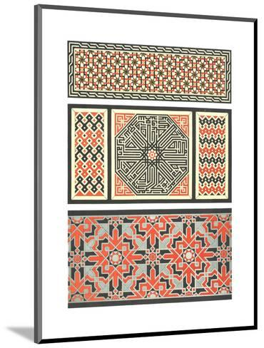 Several Bold Fretwork Patterns--Mounted Art Print
