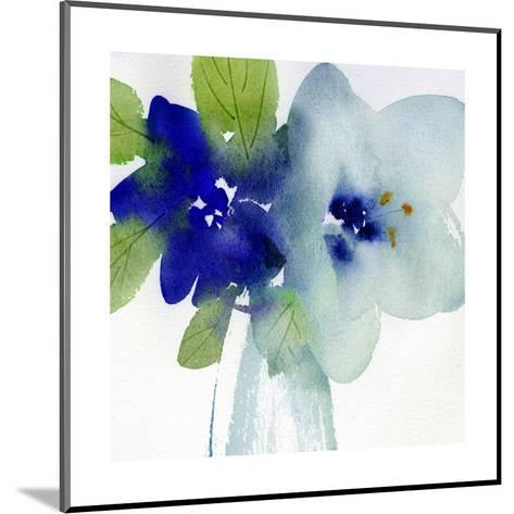 Watercolor Close-Up of Flowers with Leaves--Mounted Art Print