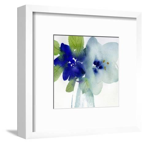Watercolor Close-Up of Flowers with Leaves--Framed Art Print
