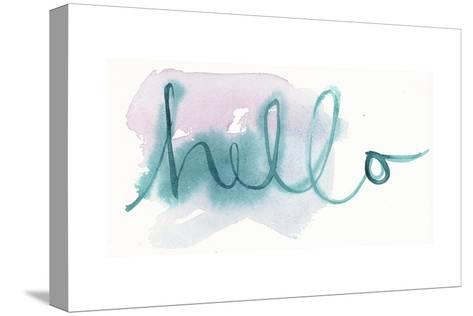 Brush Hello Lettering--Stretched Canvas Print