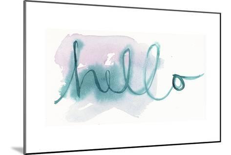 Brush Hello Lettering--Mounted Art Print