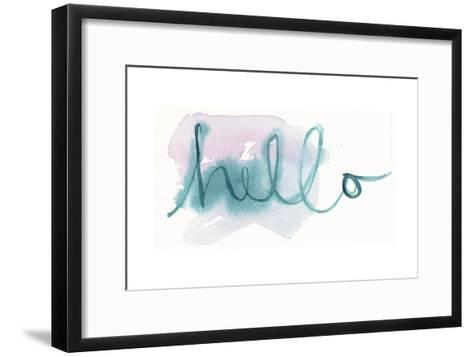 Brush Hello Lettering--Framed Art Print