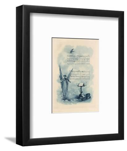 Painting of Angel Playing Violin with Music--Framed Art Print