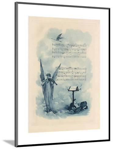 Painting of Angel Playing Violin with Music--Mounted Art Print