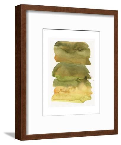 Blurry Green Watercolor Texture--Framed Art Print