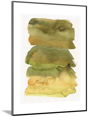 Blurry Green Watercolor Texture--Mounted Art Print