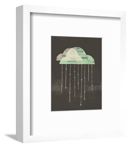 Clouds with Lines and Dots Hanging from Them--Framed Art Print