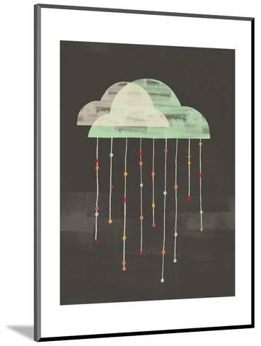 Clouds with Lines and Dots Hanging from Them--Mounted Art Print