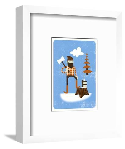 Lumberjack with Axe--Framed Art Print