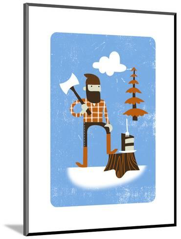 Lumberjack with Axe--Mounted Art Print