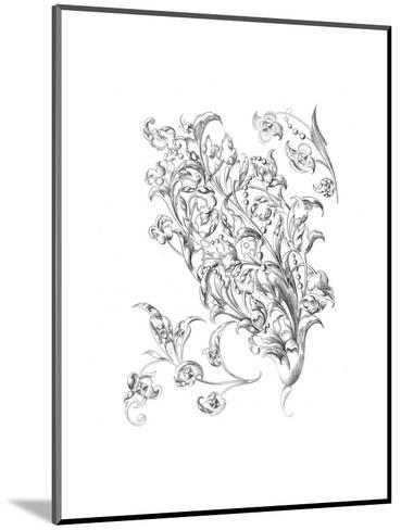 Mixed Flowers and Leaves with Berry Stems--Mounted Art Print