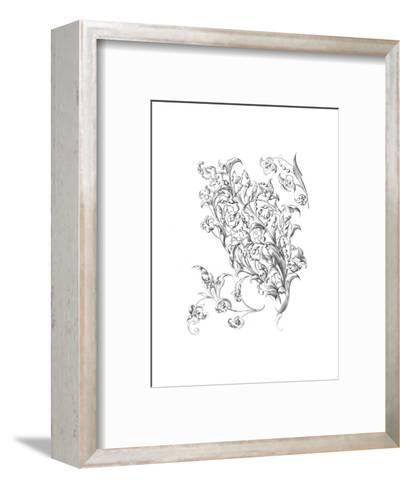 Mixed Flowers and Leaves with Berry Stems--Framed Art Print