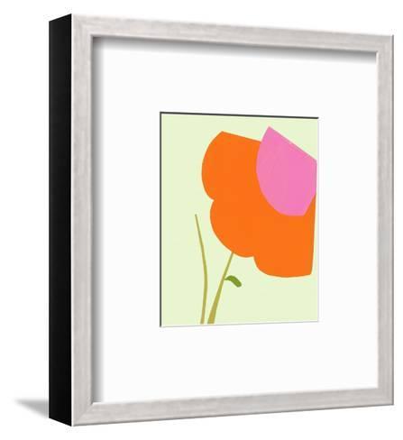 Cropped Large Graphic Orange Flower--Framed Art Print