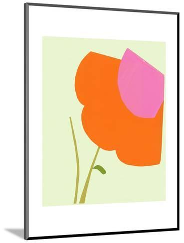 Cropped Large Graphic Orange Flower--Mounted Art Print