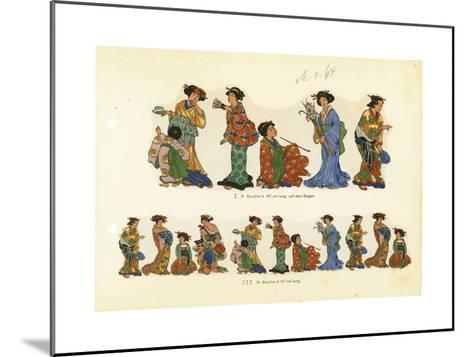 Variations of Asian Woman in a Kimono with Props--Mounted Art Print