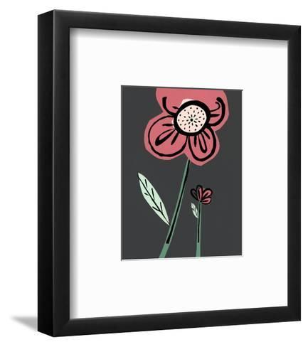 Close-Up of Pink Cartoon Flower--Framed Art Print