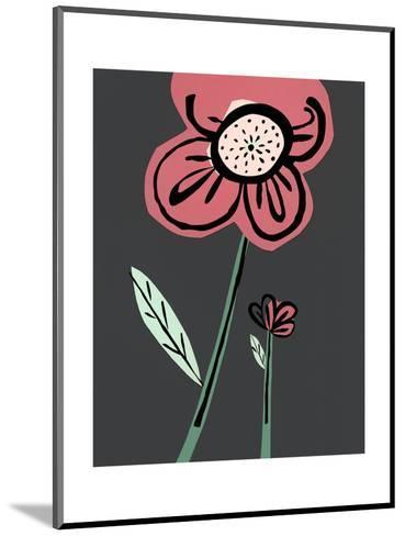 Close-Up of Pink Cartoon Flower--Mounted Art Print