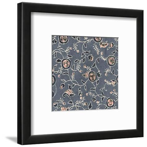 Two Pattern of Blue Flowers--Framed Art Print
