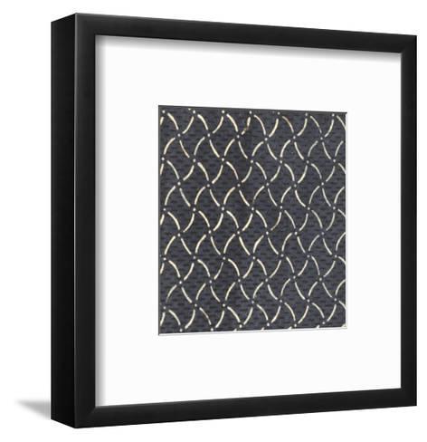 Illustrations of Curvy Diamonds and Dots Patterns--Framed Art Print