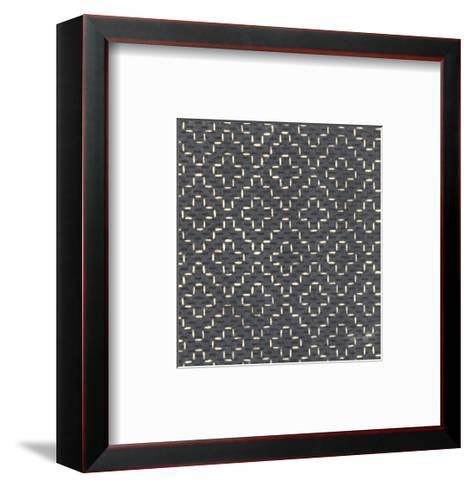 Illustrations of Stylized Crosses and Stars with Dots--Framed Art Print