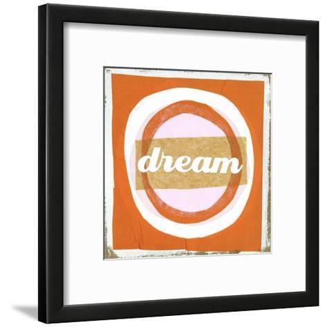 Dream Lettering on Circles--Framed Art Print