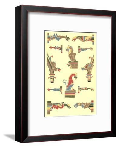 Stylized Gargoyles with Other Pillar Finials--Framed Art Print