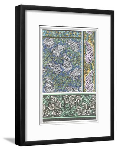 Art Nouveau Lilac Patterns and Floral Border--Framed Art Print