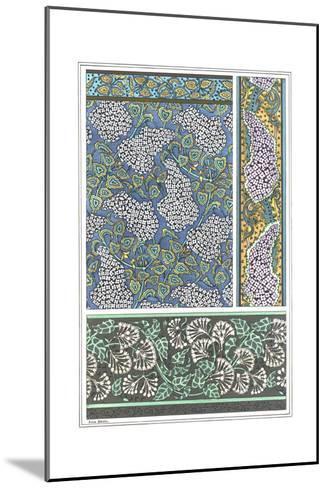 Art Nouveau Lilac Patterns and Floral Border--Mounted Art Print