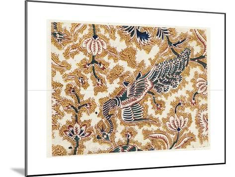 Peacock Design with Flowering Vines--Mounted Art Print