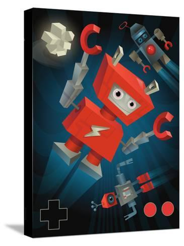 Flying Robots--Stretched Canvas Print