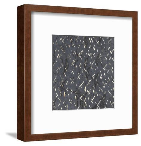 Illustrations of Geometric Patterns and Irregular Dots--Framed Art Print