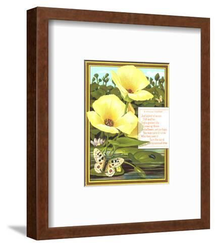 Lilies and Lily Pads with Insects--Framed Art Print