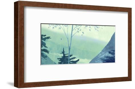 Scenery with Trees and Mountains--Framed Art Print