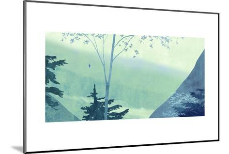 Scenery with Trees and Mountains--Mounted Art Print