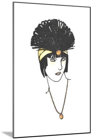 Vintage Feather Headpiece--Mounted Art Print