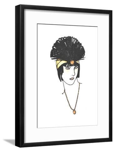 Vintage Feather Headpiece--Framed Art Print