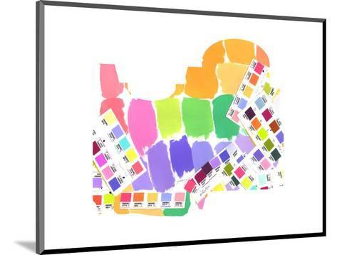Colorful Water Color Squares--Mounted Art Print
