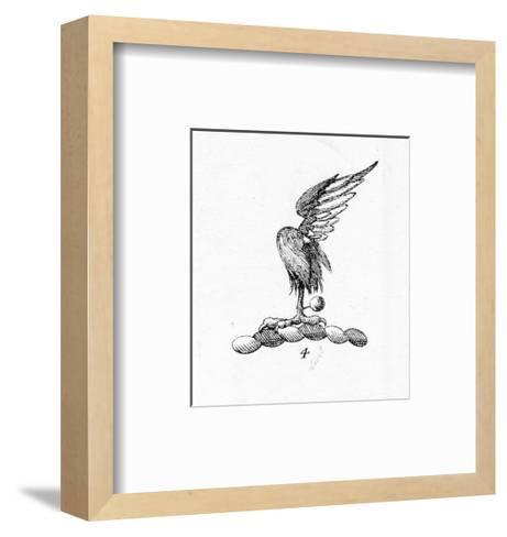 Stylized Bird Talon with Feather--Framed Art Print