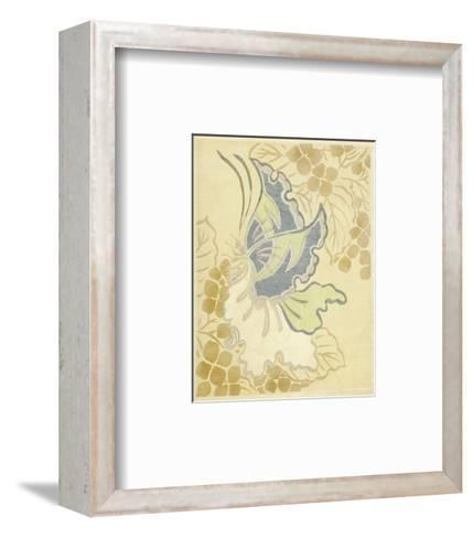 Watercolor Butterfly on Grapevine--Framed Art Print