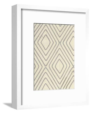 Concentric Diamonds Outlined on Ivory--Framed Art Print