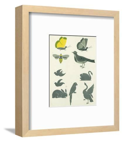 Graphic Winged Insects and Birds--Framed Art Print
