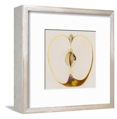Close-Up of Half of Apple--Framed Art Print