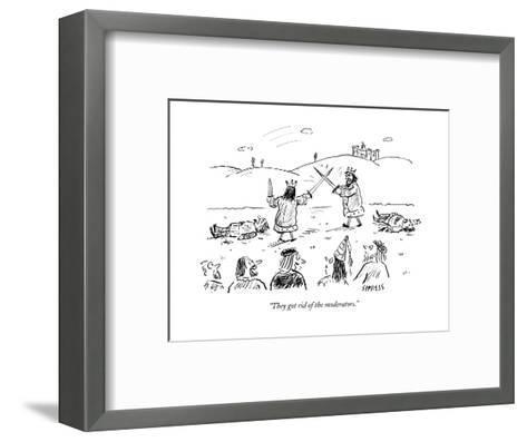 """""""They got rid of the moderators."""" - Cartoon-David Sipress-Framed Art Print"""
